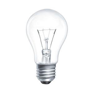 Лампа накаливания общего назначения А50 Томск Б230-60Вт-7 E27 гофраманжета, груша, прозрачная (144) БЗ000167