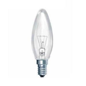 Лампа накаливания общего назначения В35 КОСМОС Б230-40Вт E14 коробка,свеча,прозрачная (10/100) БЗ000182