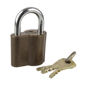 Замок навесной открытого типа ОМ-3085 50мм. с дисковым механизмом секрета,3 ключа,полимерное покрытие,6.5х4.2х2.5см,79.5гр. (120) БЗ000200