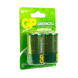 Батарейка GP Greencell Extra Heavy Duty R20/D BL2 (20/200) [GP13G-2CR2] БЗ000241