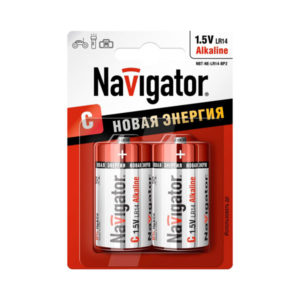 Батарейка Navigator Новая Энергия LR14/С BL2 (24/288) [NBT-NE-LR14_BP2] БЗ000250