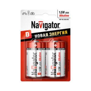 Батарейка Navigator Новая Энергия LR20/D BL2 (24/288) [NBT-NE-LR20-BP2] БЗ000251