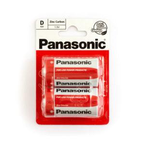 Батарейка Panasonic Zinc Carbon R20/D BL2 (24/288) [R20REL/2BR] БЗ000260