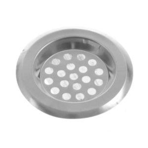 Фильтр для раковины нержавеющая сталь «No name» арт.S-14, 7.3х7.3х1см (100/1000) БЗ000286