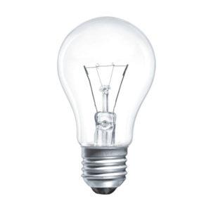 Лампа накаливания общего назначения А50 Томск Б230-75Вт-1 E27 гофраманжета, груша, прозрачная (144) БЗ000461