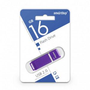 USB 2.0 флеш-накопитель 16Gb Smartbuy Quartz Series фиолет.,колпачек,58х19мм [SB16GBQZ-V] БЗ000827