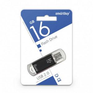 USB 2.0 флеш-накопитель 16Gb Smartbuy V-Cut Series черная [SB16GBVC-K] БЗ000833