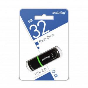 USB 2.0 флеш-накопитель 32Gb Smartbuy Paean Series черная,колпачек,58х19мм [SB32GBCPN-K] БЗ000842