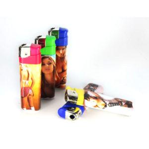 Зажигалка газовая карманная пьезо «PROFIT PL-202(4)» Девушки (с лицом),нажимной механизм (50/1000) БЗ000926