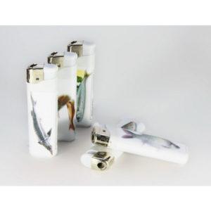Зажигалка газовая карманная пьезо «PROFIT PL-202(20)» Рыбы,нажимной механизм (50/1000) БЗ000927