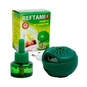 REFTAMID Комплект фумигатор+жидкость 45 ночей, зеленая коробка (1/16) БЗ001939