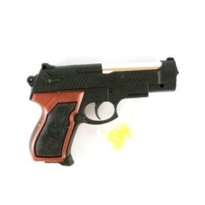 Пистолет пневматический (под пульки) 12.5см малый «FEI LI» арт.L209, пластиковый, пульки в комплекте, пакет,12.5х9х2.7см (240/480) БЗ002467