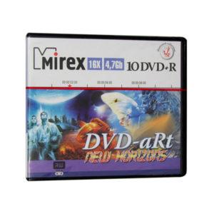 Диски DVD-R Mirex «DVD aRt New Horizons» 16x/4.7Gb/120min по 10шт (cake box) (1/60) БЗ002757