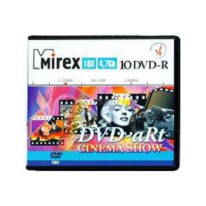 Диски DVD-R Mirex «DVD aRt Cinema Show» 16x/4.7Gb/120min по 10шт (cake box) (1/60) БЗ002758