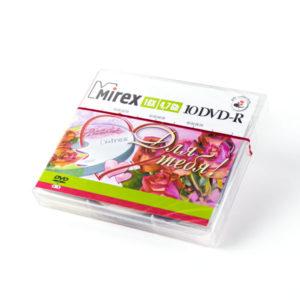 Диски DVD-R Mirex «Для Тебя» 16x/4.7Gb/120min по 10шт (cake box) (1/60) БЗ002761
