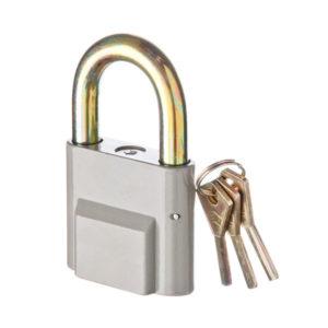 ЕРМАК Замок навесной алюминиевый 50мм арт.750 (аналог ЧЗ ВС2-26) d=7,97мм, комплект 3 финских ключа, 72.25х37.83х43.99мм, вес 112.6гр. (12/?) БЗ002958