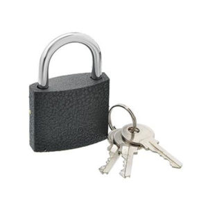FALCO Замок навесной серый металл 20мм , (аналог СТАНДАРТ HG-310) d=3,6мм, комплект 2 английских ключа, 31.7х16.54х17.56мм, вес 26гр. (12/?) БЗ002969