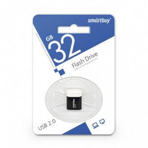 USB 2.0 флеш-накопитель 32Gb Smartbuy Lara Series черная,колпачек,20х19мм [SB8GBLara-K] БЗ003071
