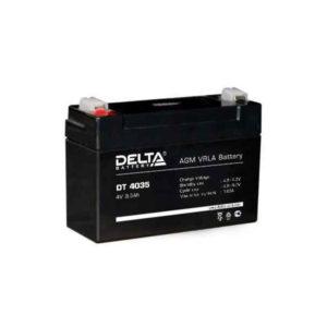 Аккумулятор Delta DT 4035, 4V, 3.5Ah, для фонарей, охранно-пожарных систем, 90х34х66мм, 0.44кг (1/20) БЗ003072