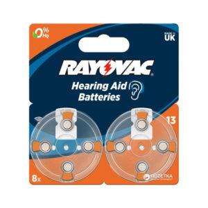 Батарейка Rayovac Hearing Aid 13/AZA13/PR48 1.45V BL8 (80) [8405335] БЗ003094