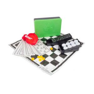 Игра 3 в 1 арт.0016 Лото, шашки, домино (40) БЗ003117