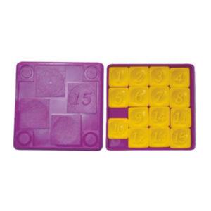 Головоломка «Пятнашки» арт.0123,  пластик, 7.5х7.5х0.8см (1/100) БЗ003119