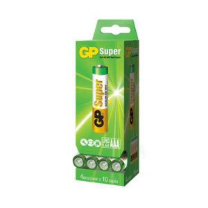 Батарейка GP Super Alkaline LR03/ААА box40 S4 (40/240) [GP15AААRS-2СRDP40] БЗ003142