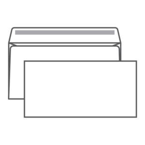 Конверт почтовый Е65 Ряжская печатная фабрика, 110х220мм,  «Кому-куда», без окна, клейкий край, 80г/м (100/1000) БЗ003149