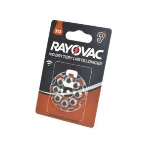 Батарейка Rayovac Hearing Aid 312/AZA312/PR41 1.45V BL8 (80) [8407033] БЗ003236