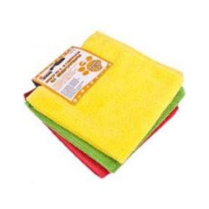 Набор салфеток для уборки из микрофибры 3шт.30х30см «Рыжий Кот» MFS-02/3,цвет микс (5/40) БЗ003341