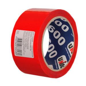 Односторонняя клейкая лента «UNIBOB» 48мм х 24м, 45мкм, цвет: красный (1/72) БЗ003434
