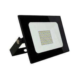 Светодиодный прожектор Smartbay 30W/300Вт, 2400Lm, 6500К, холодный свет, 220В, пылевлагозащита IP65 чёрный SBL-FL-30-65K, 225х185х48мм БЗ003849