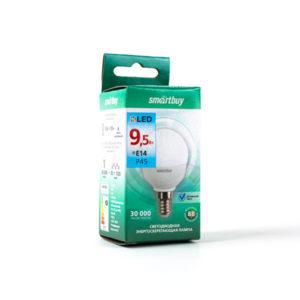 Лампа светодиодная P45 Smartbuy 9.5W/90Вт E14 4000К, холодный свет, матовая колба, 80х45мм (10/50) [SBL-P45-9_5-40K-E14] БЗ003885