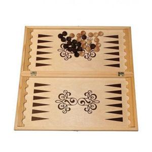 Игра «Нарды» арт.Н-3, большие, в доске, деревянные фишки, фанера, 590х300х34мм (1/12) БЗ003968