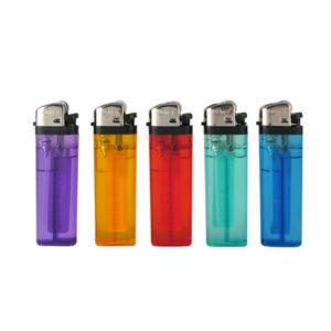 Зажигалка газовая карманная механическая «Oney  A-02» одноразовая, 5 цветов, прозрачная (50/1000) БЗ004127