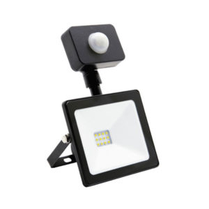 Светодиодный прожектор с датчиком движения 10W/100Вт, 800Lm, 6500К холодный свет, 220В, пылевлагозащита IP65, цвет чёрный, Smartbay SBL-FLSen-10-65K,113х85х65мм (1/30) БЗ004135