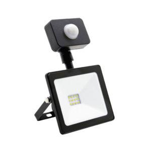 Светодиодный прожектор с датчиком движения 20W/200Вт, 1600Lm, 6500К холодный свет, 220В, пылевлагозащита IP65, цвет чёрный, Smartbay SBL-FLSen-20-65K,180х140х80мм (1/20) БЗ004136