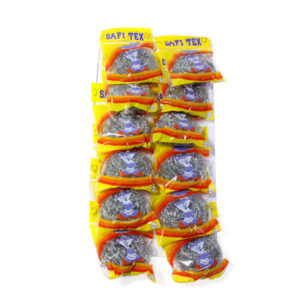 Губка для посуды металлическая «Safi Tex» 20гр. индивидуальная упаковка, блистер 12шт. (12/120/720) AST кратно 12шт. БЗ004226