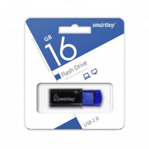 USB 2.0 флеш-накопитель 16Gb Smartbay Click Series синяя,выдвижная,58х19мм [SB16GBHTH-G] БЗ004421