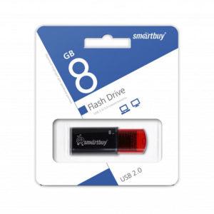 USB 2.0 флеш-накопитель 8Gb Smartbay Click Series черная,выдвижная,колпачек,58х19мм [SB8GBCl-К] БЗ004437