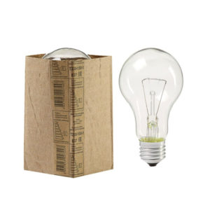 Лампа накаливания повышенной мощности (теплоизлучатель) А60 Томск Т230-200Вт E27 гофроманжета,груша,прозрачная (100) БЗ004454