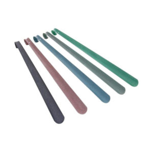 Ложка для обуви металлическая с крюком  «Solomon» DeLuxe, 35см, 350х40х1.2мм 6цветов (10/30) БЗ004698