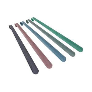 Ложка для обуви металлическая с крюком  «Solomon» DeLuxe, 45см, 450х40х1.2мм 6цветов (10/30) БЗ004699