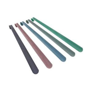 Ложка для обуви металлическая с крюком  «Solomon» DeLuxe, 75см, 750х40х1.2мм 6цветов (10/30) БЗ004701