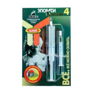 Клей эпоксикаучуковый двухкомпонентный шприц «Эпокси Классик » №1, 1х10+1мл. блистер (1/40) БЗ004768