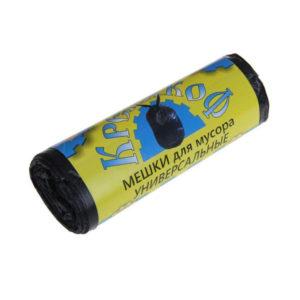 Крепакоф мешки в РУЛОНЕ д/мусора 120л/10шт, 13мк черные, 680х1050мм (50) БЗ004880