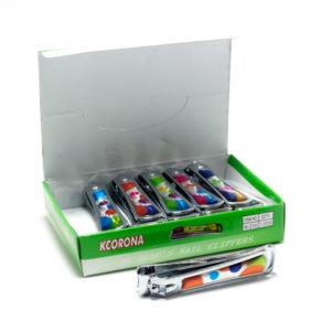 Кусачки-книпсер маникюрные с пилкой 6,2 см «KCORONA» N-215, Круги накладка пластиковая (12/1200) БЗ004904