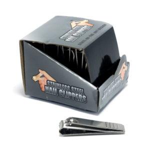 Кусачки-книпсер маникюрные с пилкой 5,5 см «STAINLESS STEEL» N621, Стальные матовые (12/600) БЗ004906