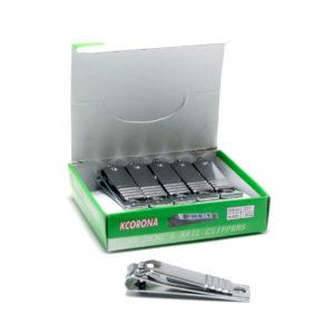 Кусачки-книпсер маникюрные с пилкой 5,5 см «KCORONA» N-625, Стальные без накладки (12/1200) БЗ004907