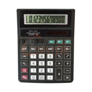 Калькулятор настольный большой не стираемые кнопки SDC-883, 12разрядный, 1хR03, 19,2х14,5х2,8см (30/90) БЗ004927